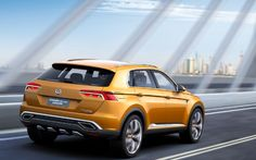 volkswagen crossblue coupe concept right rear action