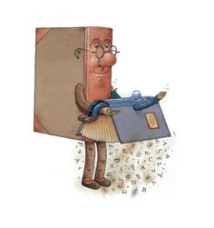 Two Books Painting - Two Books Fine Art Print - Kestutis Kasparavicius