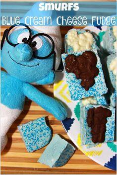 Smurfs Blue Cream Cheese Fudge #SmurfsMovie @smurfsmovie