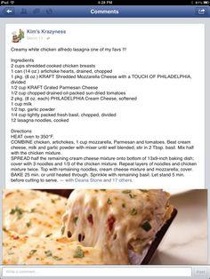 Creamy White Chicken Lasagna