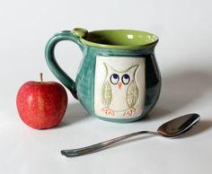 This is a great coffee mug for Back to School! Back to School Mug Colorful Owl Mug by MissPottery, $28.00 #Coffee #School #MrCoffee