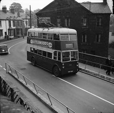 Pontypridd UDC Karrier W Weymann trolleybus FNY984 Welsh bus negative