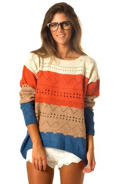 Love this sweater! With tights and riding boots. Brings color to the fall!