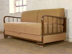 Art deco retro 3 #seater club sofa daybed #chaise bed couch #vintage 30s 40s…