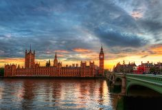 The day I took this photo I had a typical London rainshower. But it cleared up just before sunset to reveal magnificent clouds. I crisscrossed the Thames River many times to find the right light. After the sun dipped below the horizon, the light finally fell behind Westminster with a delicate palette. - LONDON, UK - photo from #treyratcliff Trey Ratcliff at http://www.StuckInCustoms.com