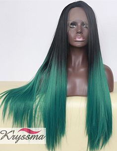 K'ryssma Ombre Green Lace Front Wig Synthetic Hair 2 Tone Colors for Women Long Straight Heat Resistant 24 Inches K'ryssma http://www.amazon.com/dp/B014H3BBC6/ref=cm_sw_r_pi_dp_PpvTwb1255719