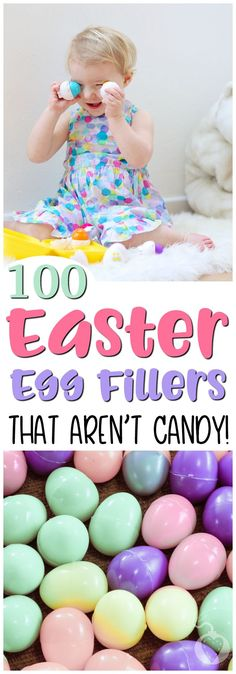 We're so much better than just candy this year, here is 100 Things to Put In Easter Eggs {That Aren't Candy!} | #easter #eggs #fillers #notcandy #healthy #easy