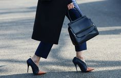 Perfect shoes and bag for me.