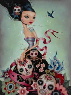 """This brand new piece is quite a treat from pop surrealist master painter, Caia Koopman. """"Escape"""" is a limited edition fine art giclee print thats signed and numbered by Caia.Certificate of Authenticity included with each of the 100 copies. Measures 18 x 24 inches! This fine art and limited edition print has been months in the making and is finally available today at Spoke Art Gallery."""