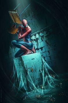 Spiderman no more by Jurek Gralak, via Behance Marvel Dc Comics, Marvel Heroes, Marvel Avengers, Univers Marvel, Amazing Spiderman, Stan Lee, Comic Books Art, Comic Art, Star Trek