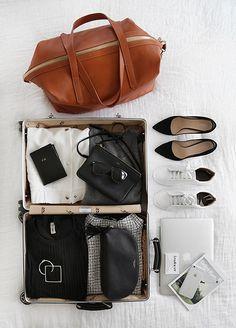 luggage | macbook | accessories | magazine | ❀ krystalynlaura