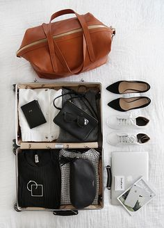 luggage | macbook | accessories | magazine | ❀ krystalynlaura