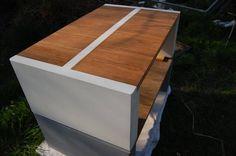 Loungetisch aus Beton kombiniert mit Holz  #Concrete #Furniture #Lifestyle #AMCONCRETEDESIGN #Wood #Handcrafted