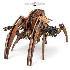 Warhammer 40k Necrons, Warhammer 40k Miniatures, Warhammer Fantasy, Drones, The Grim, Starcraft, Art Pages, Concept Art, Steampunk
