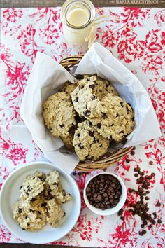 Eggnog Oatmeal Chocolate Chip Cookies | FamilyFreshCooking.com