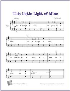 This Little Light of Mine (Bible Song) | Free Sheet Music for Easy Piano - MakingMusicFun.net (Scheduled via TrafficWonker.com)