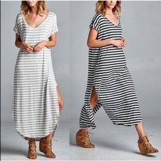 XX BAILEY striped chic dress - 3 colors Yarn dyed striped dress. Fabric 96% rayon, 4% spandex. Made USA. AVAILABLE IN H.GREY, BLACK & RED NO TRADE, PRICE FIRM Dresses