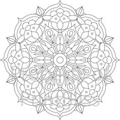 18. Flower Mandala printable coloring page. by PrintBliss on Etsy