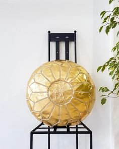 GOLD LEATHER POUF – Milsouls Moroccan Leather Pouf, Moroccan Pouf, Old Clothes, Leather Ottoman, Gold Leather, Decorating Your Home, Outdoor Spaces, Nursery, Ropa Vieja
