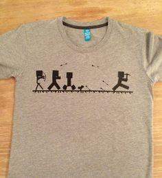 Kul T-skjorte med Minecrafttrykk. - Epla