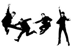 The Beatles Band Jumping Poster Prints Wall Decoration Art Pictures Pinup