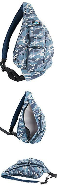 Blue Camo Bag. Meru Sling Backpack Bag - Small Single Strap Crossbody Pack for Women and Men (Blue Camo).  #blue #camo #bag #bluecamo #camobag