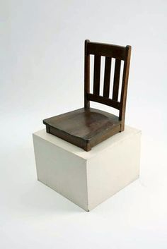 "William Stone  Monumental, 2009  Modified furniture  20"" x 20"" x 38"""