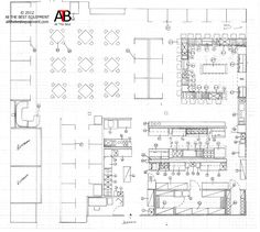 Restaurant Kitchen Design Layout detailing & working drawings / restaurant design on behance | my