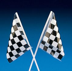24 Black and White Checkered Racing Nascar Flags Party Favors Loot Bags