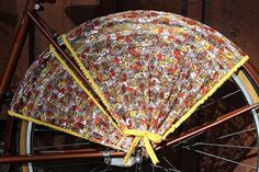 Bicycle Skirt Guard 'Potpourri'. by FrillRide on Etsy