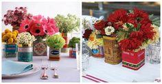 22 Eye-Catching & Inexpensive DIY Wedding Centerpieces - tea tin centre pieces