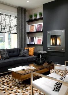Black accent wall.  Oohhh  candice olson | CANDICE OLSON