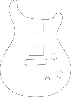 guitar template - Google Search
