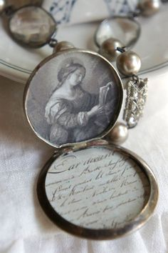 Love Letter-Vintage assemblage necklace by frenchfeatherdesigns