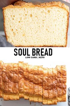 NEW Soul bread is a moist fluffy delicious low carb white bread that is truly si. NEW Soul bread is a moist fluffy delicious low carb white bread that is truly simple to make and no Best Low Carb Recipes, Low Carb Dinner Recipes, Low Carb Desserts, Snack Recipes, Dessert Recipes, Diet Recipes, Breakfast Recipes, Breakfast Ideas, Bread Recipes