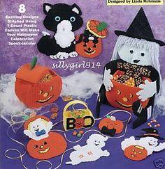 "Disney Plastic Canvas Patterns Books | Halloween Projects"" Plastic Canvas Pattern Book OOP | eBay"