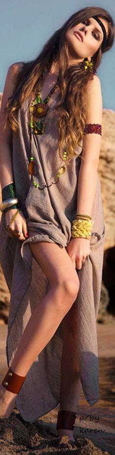 Boho Style ~ The Bohemian Chic - Project by Nota Karamalakou Shooting with photographer Chris Voreos - Model :Irene Kusnesz