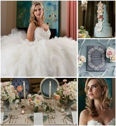 Cinderella inspired wedding.  Found vintage furniture.  Taken at the US Grant in San Diego. Photography by anzafotofilm.com Read more - http://www.stylemepretty.com/2013/09/04/a-modern-cinderella-inspired-photo-shoot-from-anza-photo-film/
