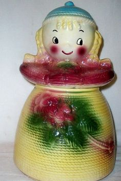 Rare Cookie Jar, we had this cookie jar growing up. My brother has it now. Colors are a little different.