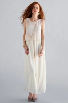 Brookside Lace Maxi Dress - Francescas