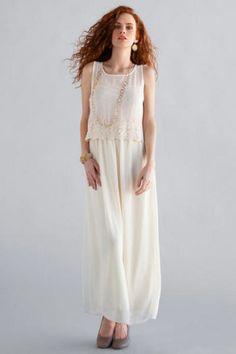 Brookside Lace Maxi Dress - Francescas
