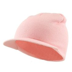 Cuffless Beanie Sports Visor-Pink