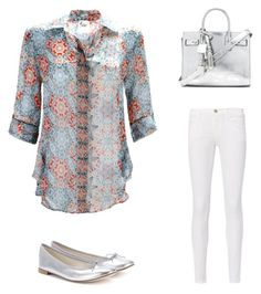 Designer Clothes, Shoes & Bags for Women Early Spring Outfits, Yves Saint Laurent, Outfit Ideas, Frame, Polyvore, Stuff To Buy, Shirts, Clothes, Shopping