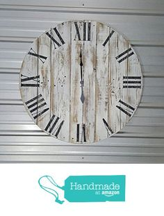 "18in ""Classic"" reclaimed wood wall clock, fixer upper style clock, farmhouse…"