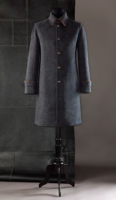 Loden Coat with Hood: style UC4 Double check in contrasting color, lined