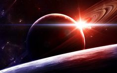 Sunrise in Space by gucken on DeviantArt Astronomy Pictures, Mosaic Pictures, Photoshop, Ring Pictures, Nature Artwork, High Resolution Wallpapers, Cross Paintings, Hd Picture, Hd Desktop