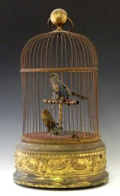French Brass Bird Automaton, early 20th century