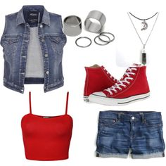 Featuring fashion style WearAll maurices J.Crew Converse Pieces