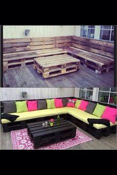 44 DIY Wooden Pallets House Ideas #Home #Garden #Trusper #Tip