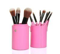 12pcs Brand MakeUp Cosmetic Brush Cylinder Case H1023P